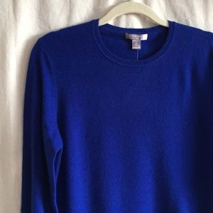CASHMERE by Charter Club royal blue Basic crew L